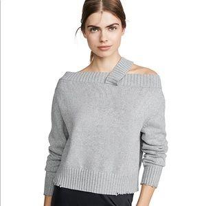 RtA Beckett Silver Sequin Sweater